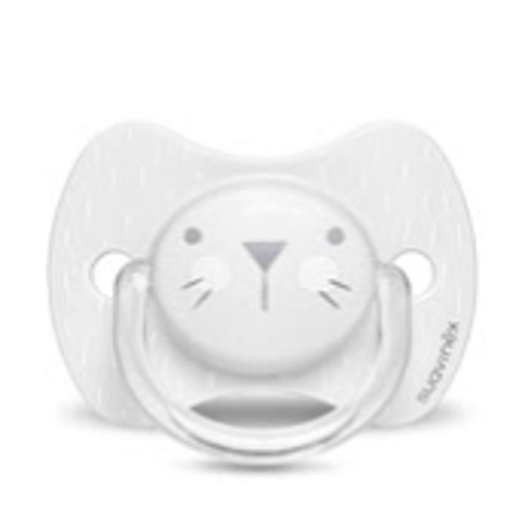 Afbeeldingen van Suavinex Fopspeen Cat dental siliconen 0/6 maand