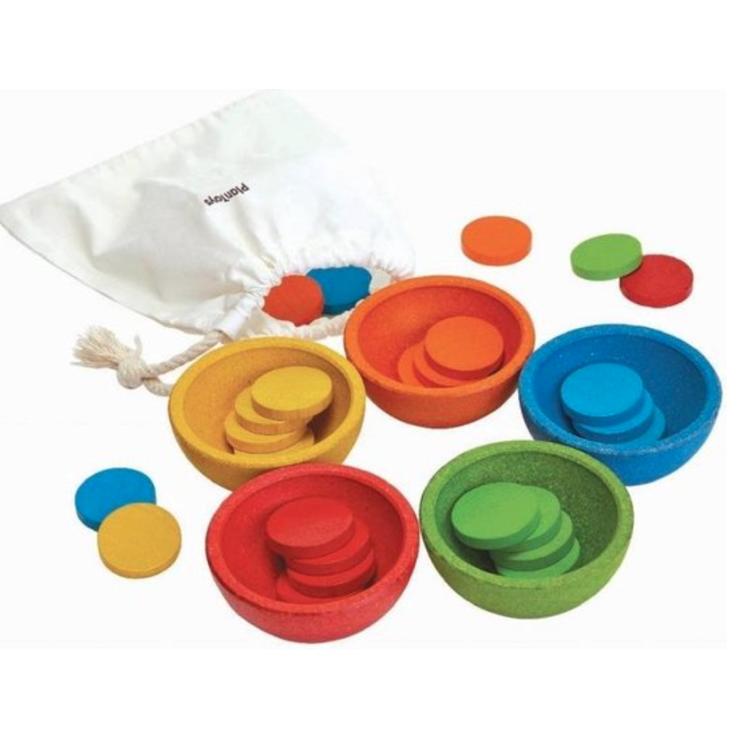 Afbeeldingen van Plan Toys Sort & Count Cups