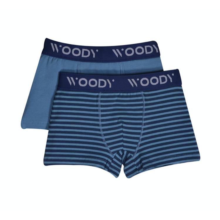 Afbeeldingen van Woody Set Boxershort blauw gestreept