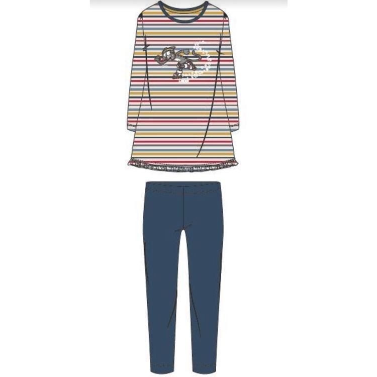 Afbeeldingen van Woody Pyjama Meisjes Kat gestreept