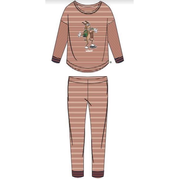 Afbeeldingen van Woody Pyjama LM Meisje Geit Gestreept