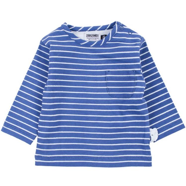 Afbeeldingen van Zero To Three T-shirt LM Blauw Gestreept