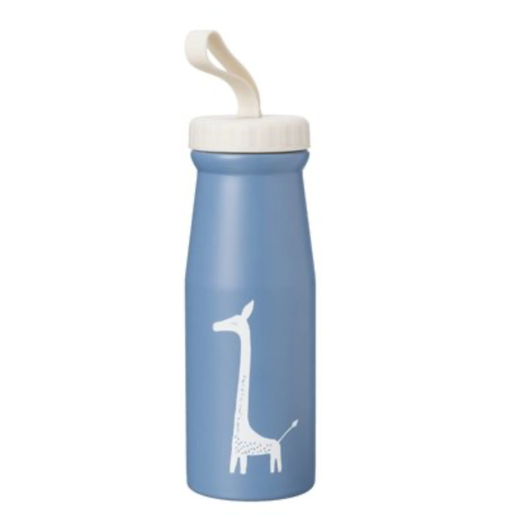 Afbeeldingen van Fresk Thermosfles Blauw Giraf
