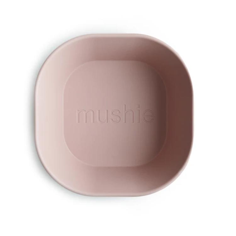 Afbeeldingen van Mushie Set van 2 kommetjes blush