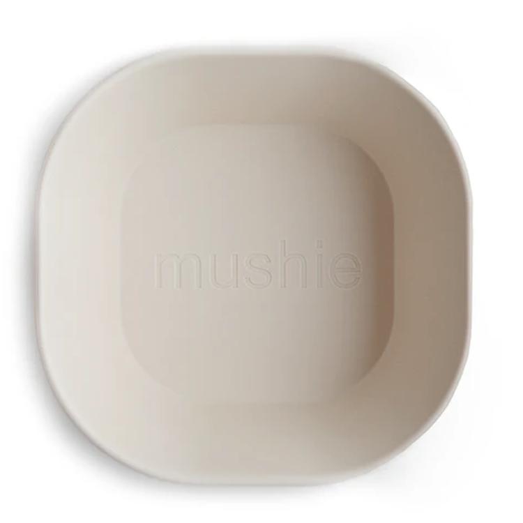Afbeeldingen van Mushie Set van 2 kommetjes ivory