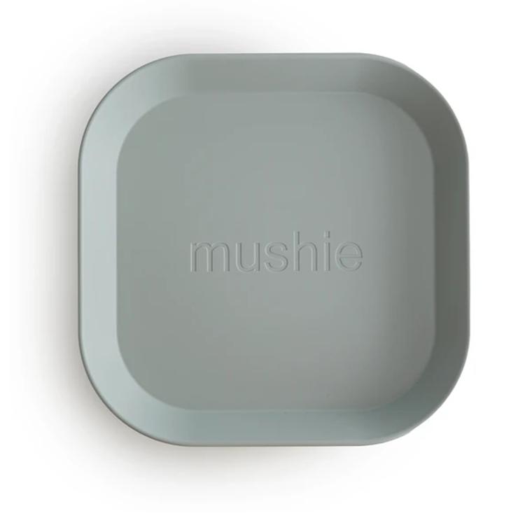Afbeeldingen van Mushie Set bordjes Sage