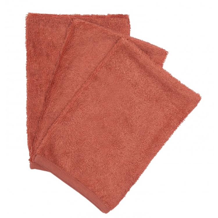 Afbeeldingen van Timboo Set washandjes Apricot blush