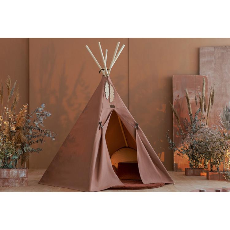 Afbeeldingen van Nobodinoz Tippee Tent Nevada Sienna Brown