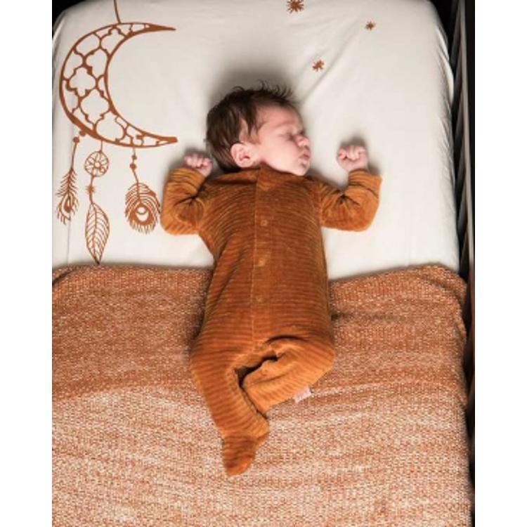 Afbeeldingen van Witlof for kids pyjama corduroy Hazel brown