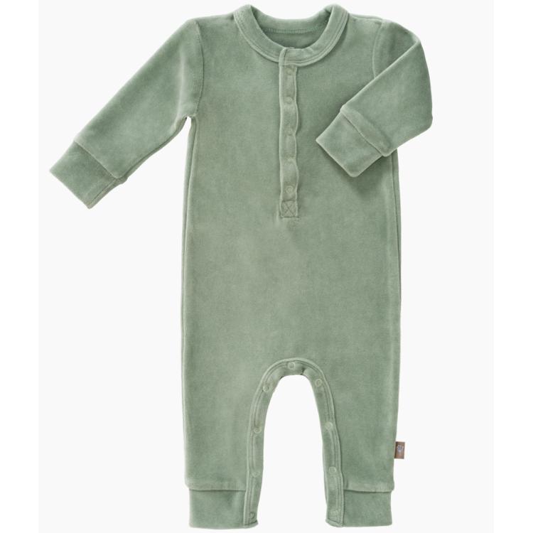Afbeeldingen van Fresk Pyjama velours groen  0-3 maand