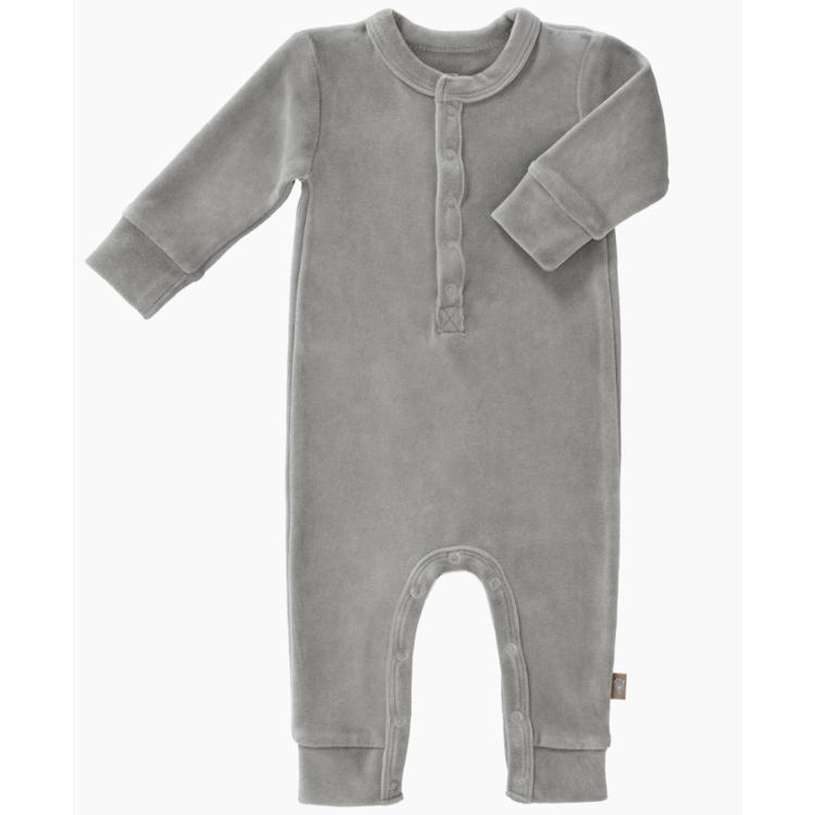 Afbeeldingen van Fresk Pyjama velours grey 0-3 maand