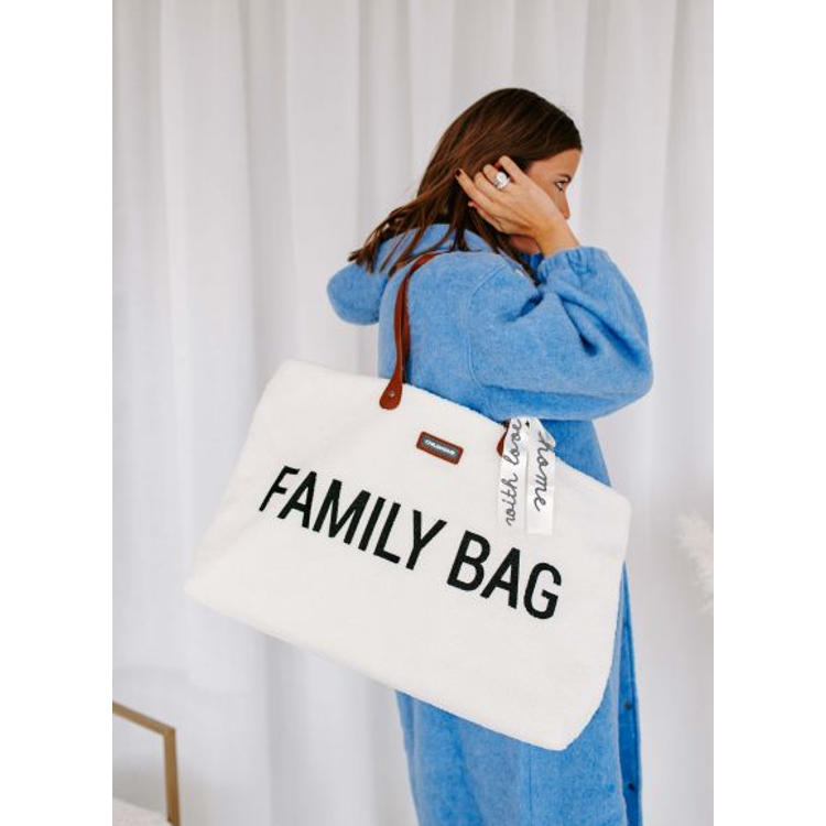 Afbeeldingen van Childhome Familybag Teddy ecru