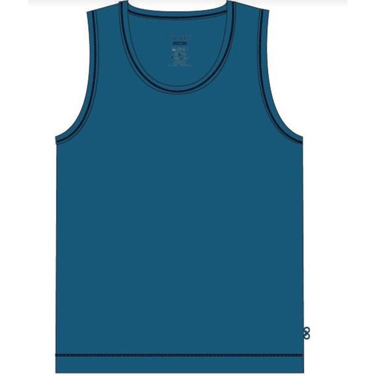 Afbeeldingen van Woody Onderhemdje effen blauw