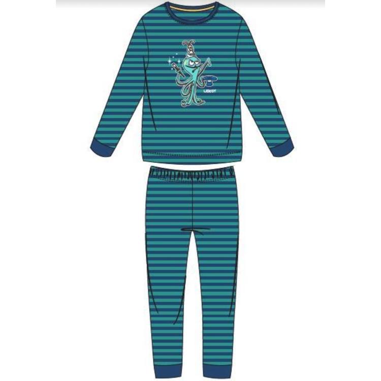 Afbeeldingen van Woody Pyjama Octopus lange mouwen gestreept