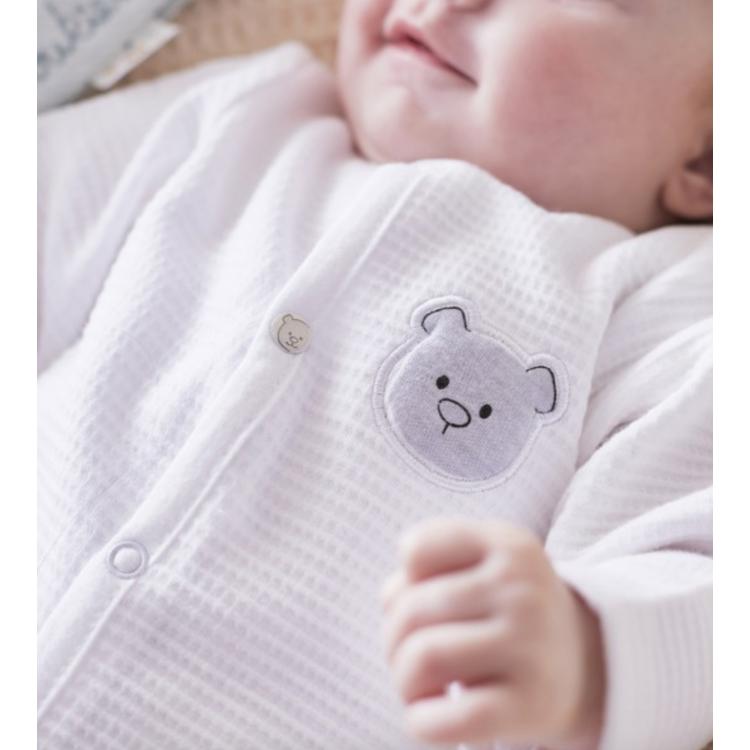 Afbeeldingen van Noukies Pyjama Effen wit katoen
