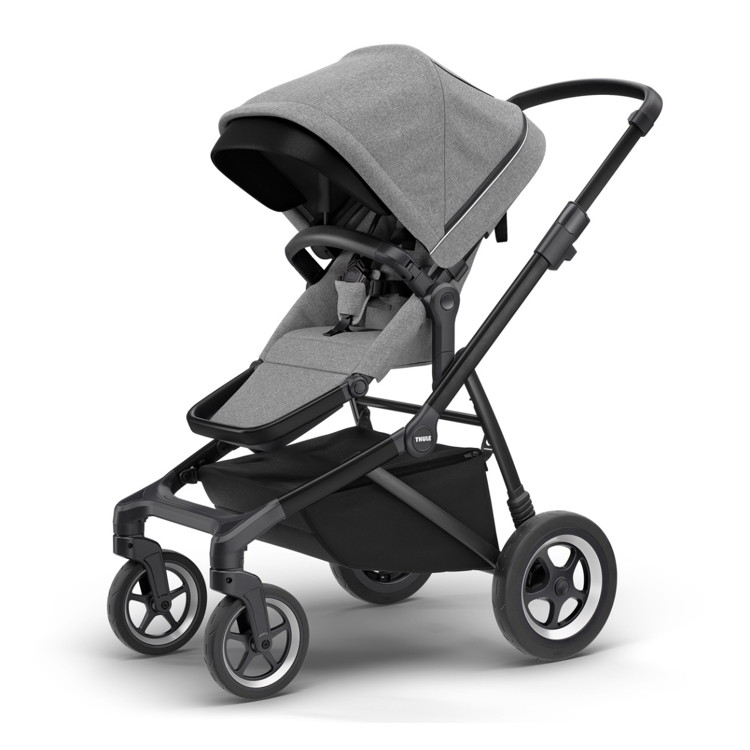 Afbeeldingen van Thule Kinderwagenset Sleek black/grey melange