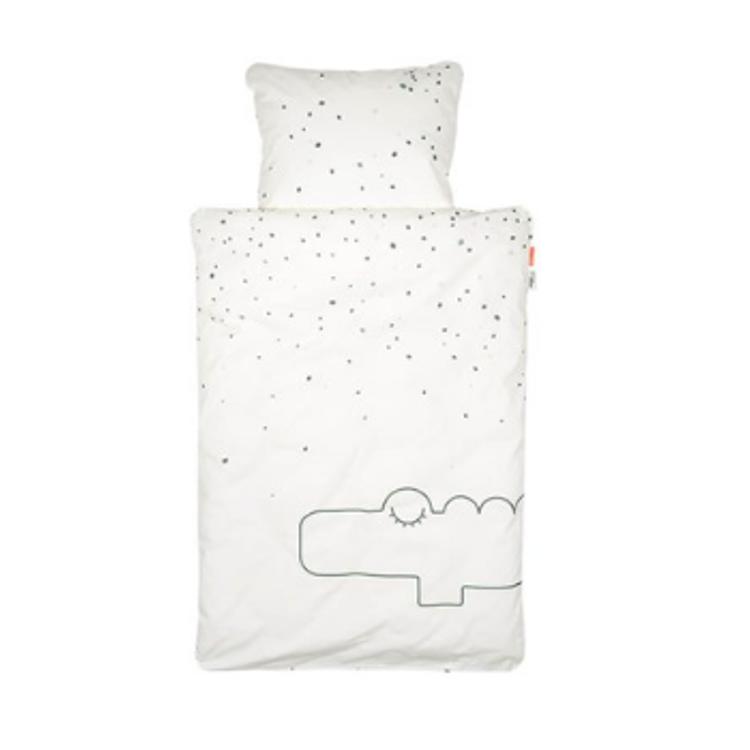 Afbeeldingen van Done by deer Donsovertrek bed contour croco green
