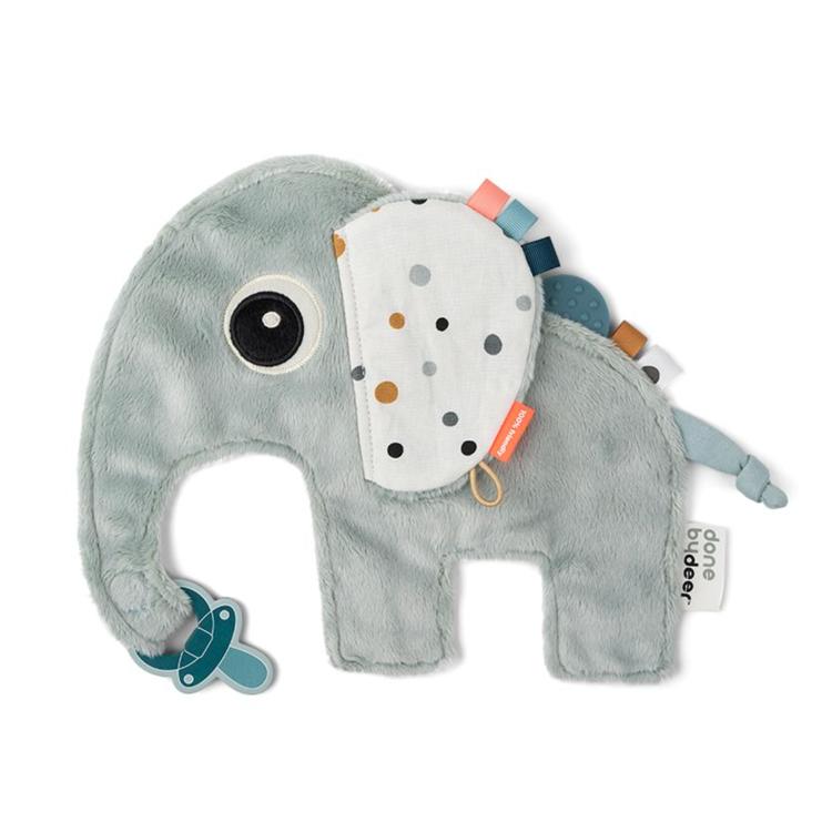 Afbeeldingen van Done by Deer Knuffeldoekje blauwe olifant