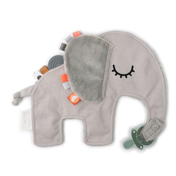 Afbeeldingen van Done by Deer Knuffeldoekje grijze olifant