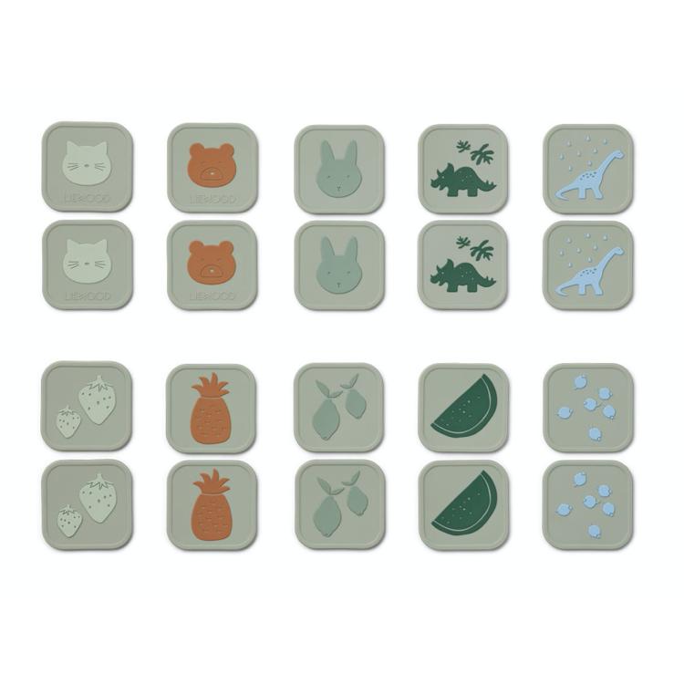 Afbeeldingen van Liewood Memory game Dove blue