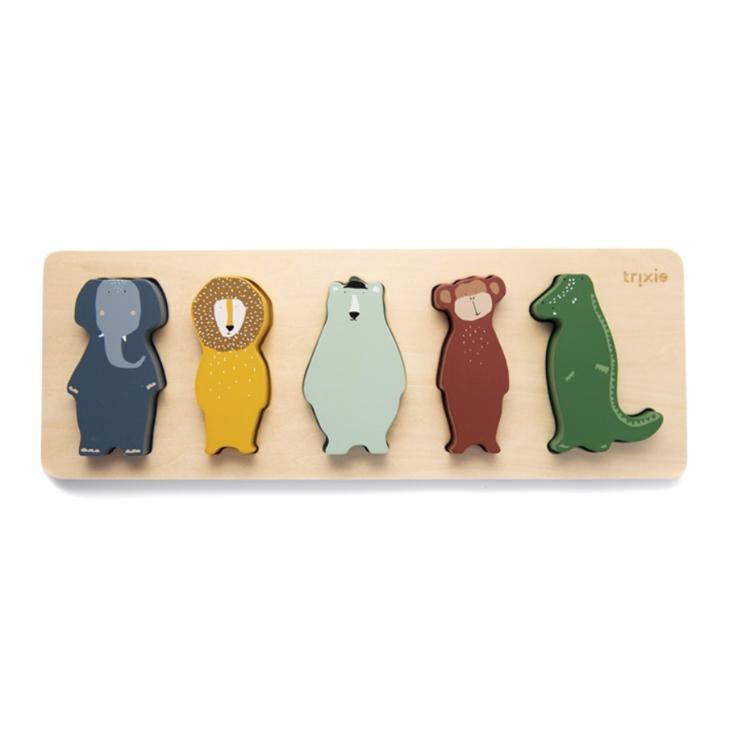 Afbeeldingen van Trixie houten vormenpuzzel