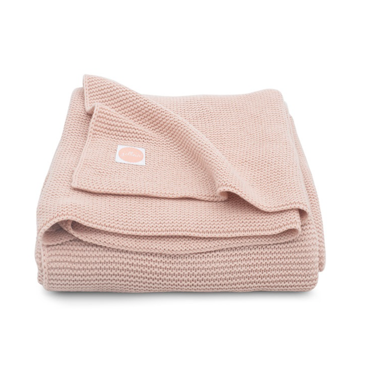 Afbeeldingen van Jollein Deken 75x100 Basic Knit pale pink