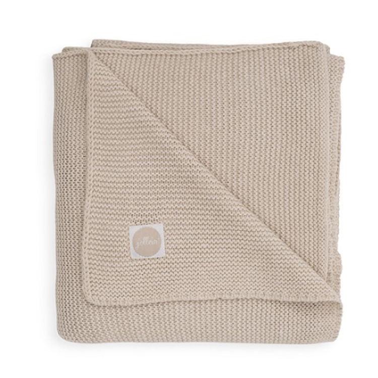 Afbeeldingen van Jollein Deken 75x100 Basic knit nougat