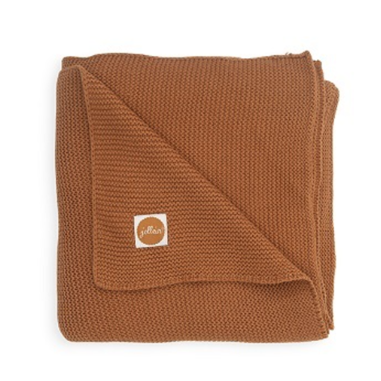 Afbeeldingen van Jollein Deken 75x100 Basic knit Caramel