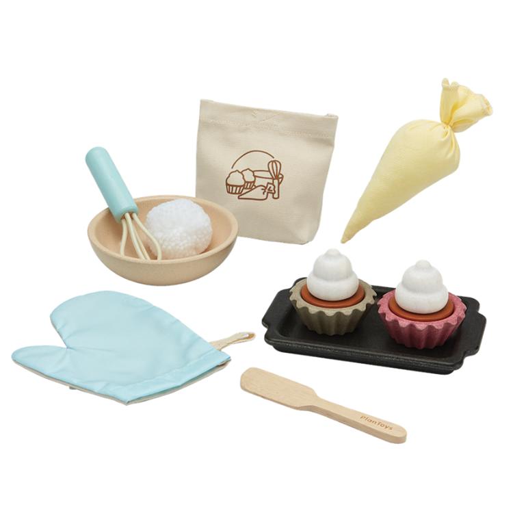 Afbeeldingen van Plan Toys Cupcake set