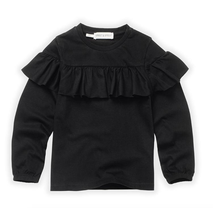 Afbeeldingen van Sproet & Sprout T shirt Lm Ruffle black