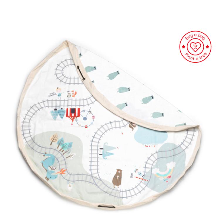 Afbeeldingen van Play & Go Opbergzak Trainmap/bears