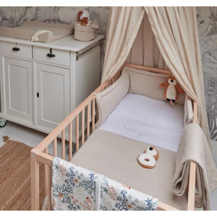 Afbeeldingen van Jollein Deken bed Bliss nougat 100x150cm