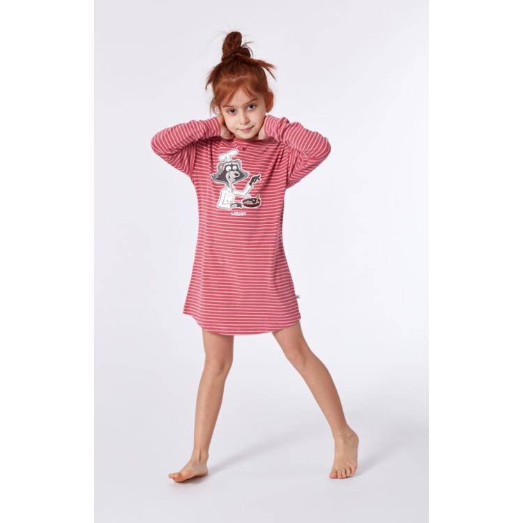 Afbeeldingen van Woody Slaapkleed Roze gestreept Raccoon
