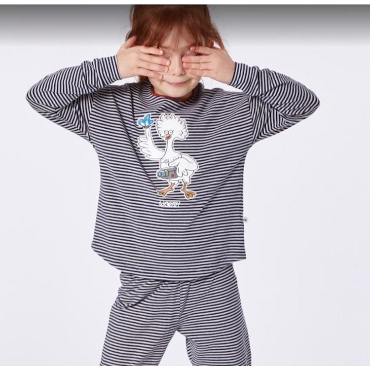 Afbeeldingen van Woody Pyjama Hooglander fijn gestreept