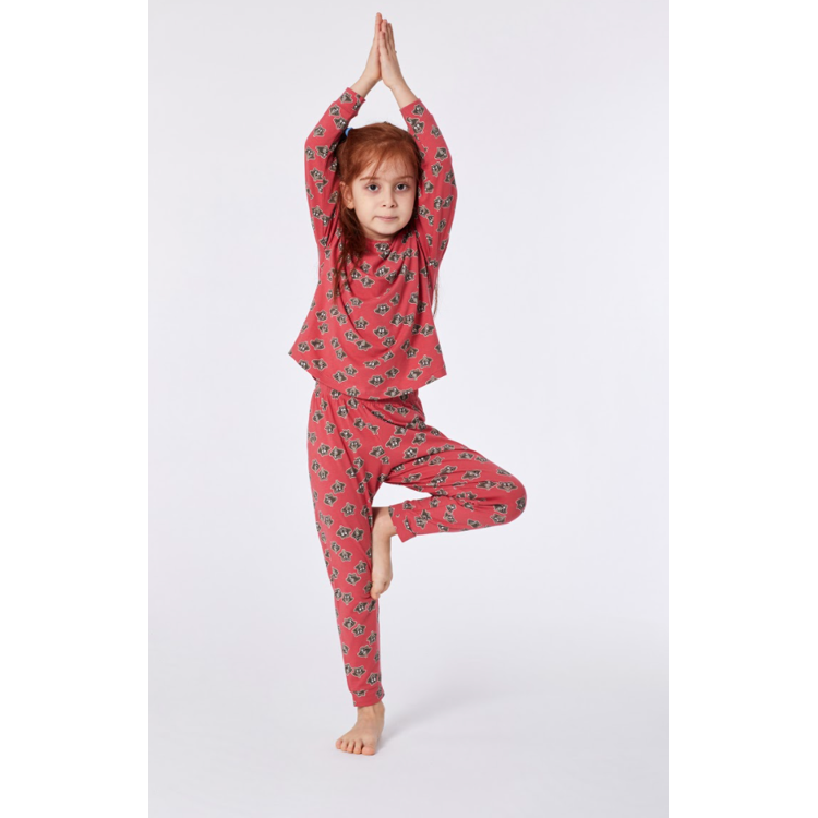 Afbeeldingen van Woody Pyjama Raccoon roze