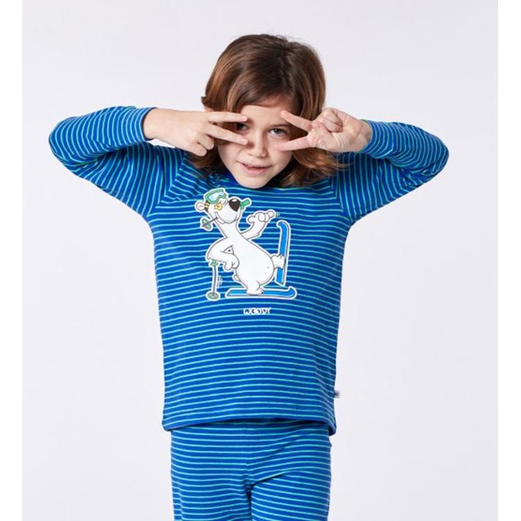 Afbeeldingen van Woody Pyjama Ijsbeer gestreept