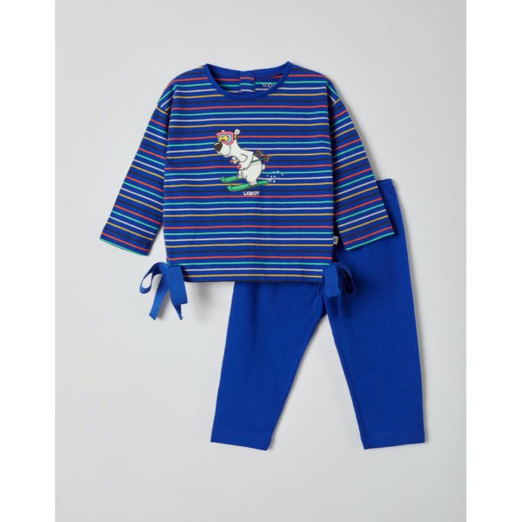 Afbeeldingen van Woody Pyjama meisje Ijsbeer gestreept (0-18 maand)