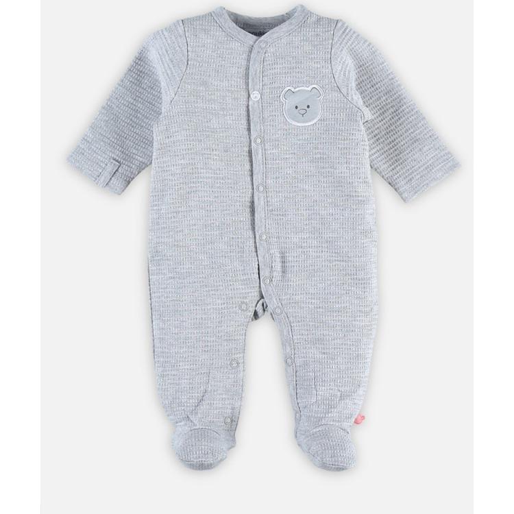 Afbeeldingen van Noukie's Pyjama grijs wafelstof
