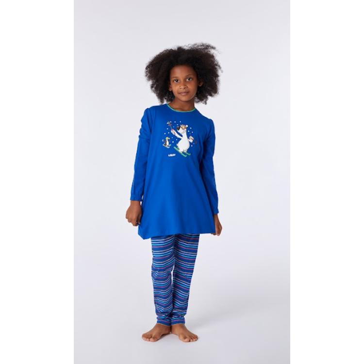 Afbeeldingen van Woody Pyjama Tuniek ijsbeer kobaltblauw