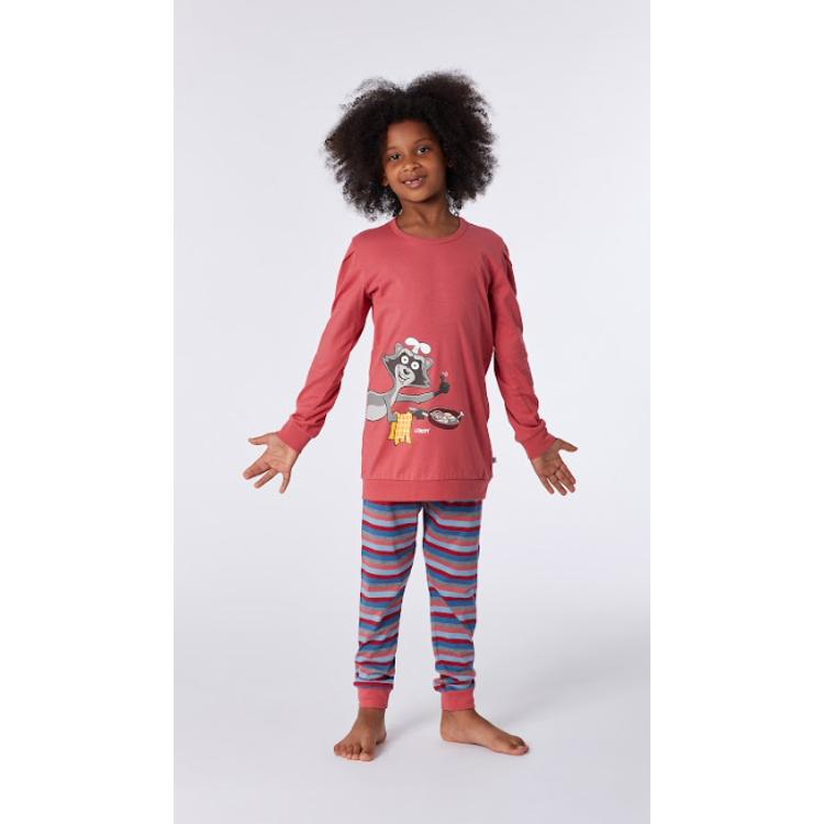 Afbeeldingen van Woody Pyjama Meisje Raccoon framboos