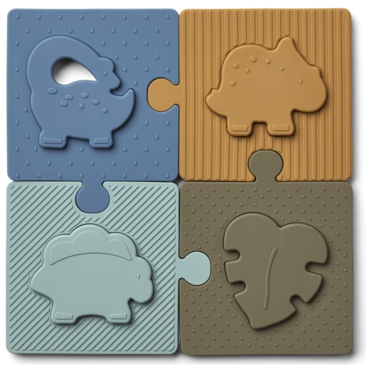 Afbeeldingen van Liewood Puzzel Dino blue multimix