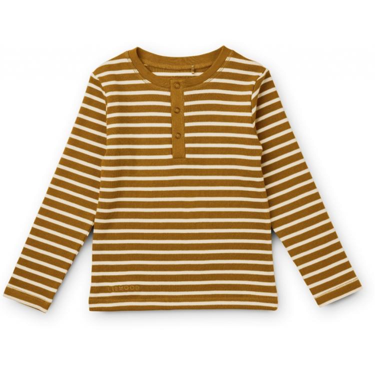 Afbeeldingen van Liewood Pyjama Golden Caramel/ sandy stripes
