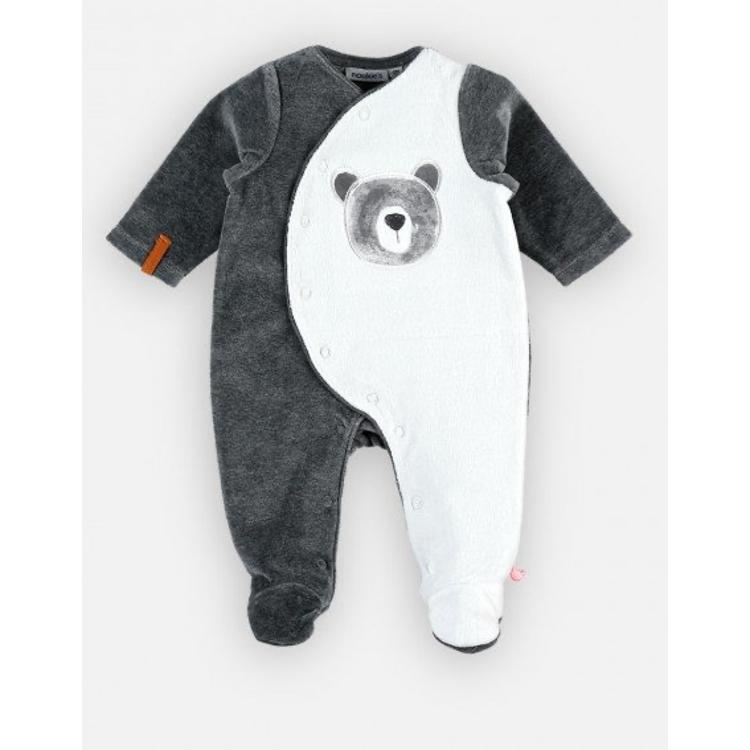 Afbeeldingen van Noukie's Pyjama grijs met beertje